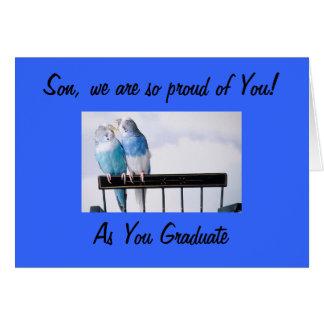 PARENTS PROUD SON AT GRADUATION CARD