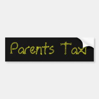 Parents Taxi Bumper Sticker