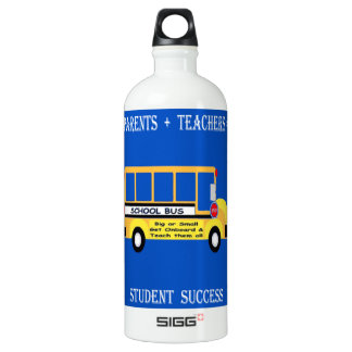 Parents + Teachers = Student Success Water Bottle