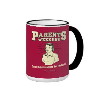 Parents Weekend: Hide Everything Ringer Mug