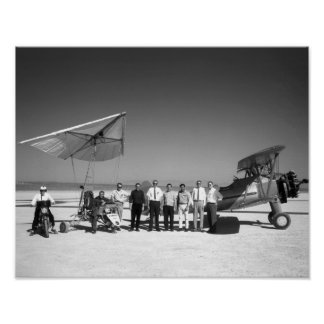 Paresev 1-A and Tow Plane with Crew and Pilot Print