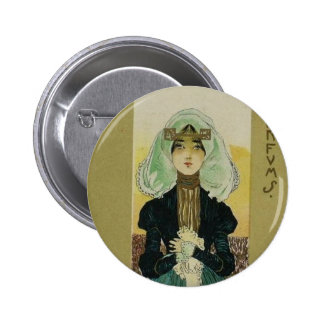 Parfums by Raphael Kirchner 6 Cm Round Badge