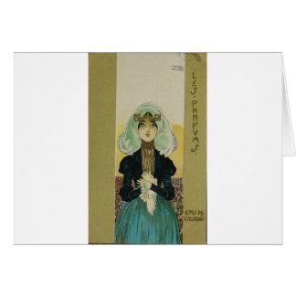 Parfums by Raphael Kirchner Greeting Card
