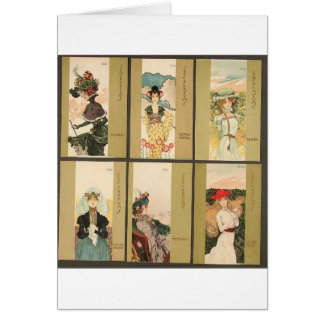 Parfums by Raphael Kirchner Greeting Card