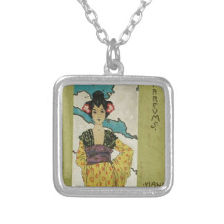 Parfums by Raphael Kirchner Square Pendant Necklace