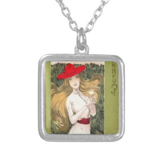 Parfums by Raphael Kirchner Square Pendant Necklace