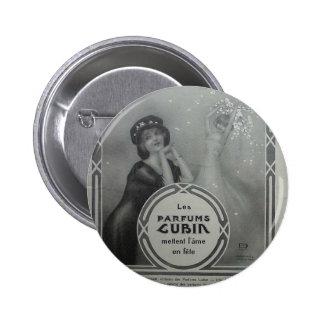 Parfums Cubin by Raphael Kirchner 6 Cm Round Badge
