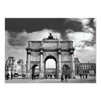 Paris 13 Cm X 18 Cm Invitation Card