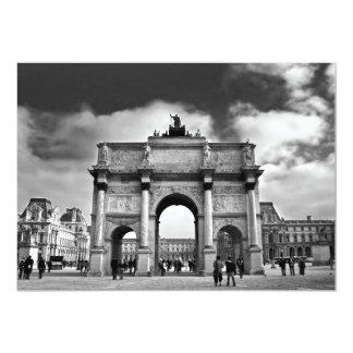 Paris 13 Cm X 18 Cm Invitation Card