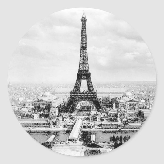 Paris 1889 classic round sticker
