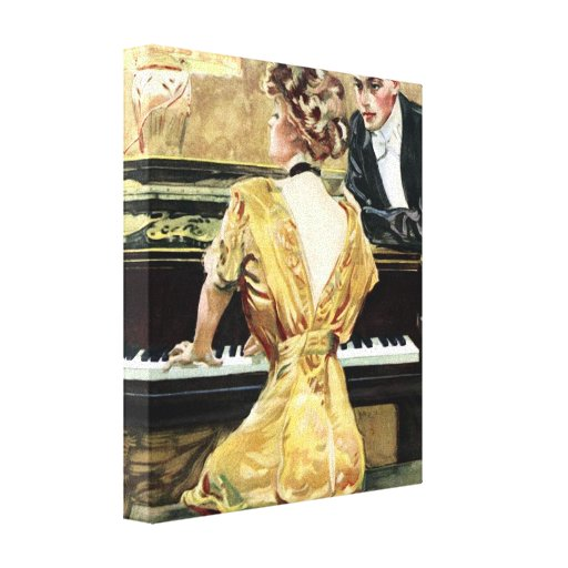 paris , 1909 , europe , woman , fashion , fashiona gallery wrap canvas