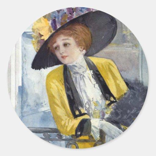 Paris 1909 round sticker
