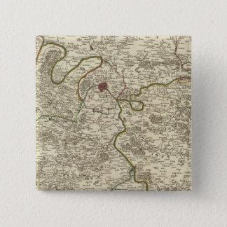 Paris 3 15 cm square badge