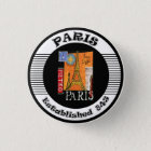 Paris 3 Cm Round Badge
