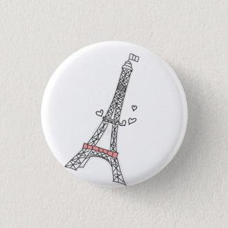 Paris 3 Cm Round Badge