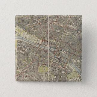 Paris 4 15 cm square badge
