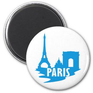 Paris 6 Cm Round Magnet