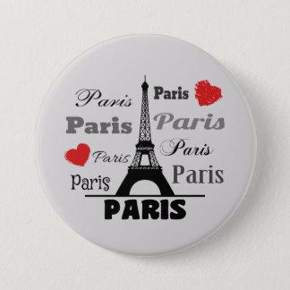 Paris 7.5 Cm Round Badge
