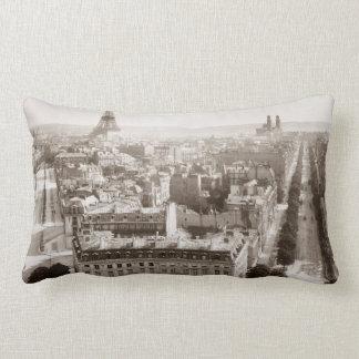 Paris: Aerial View, 1900 Lumbar Cushion