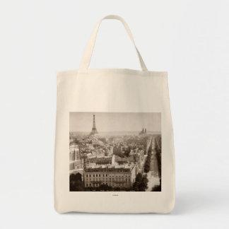 Paris: Aerial View, 1900 Grocery Tote Bag