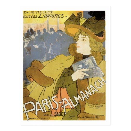 Paris Almanach, 1894 Vintage Art Nouveau Postcard