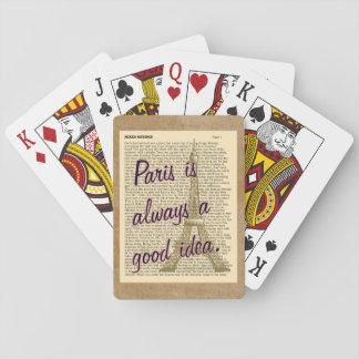 Paris Always Good Idea -- Playing Cards