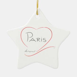 PARIS Amour (heart) Christmas Ornament