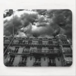 Paris apartments with a cloudy gothic sky mouse pad