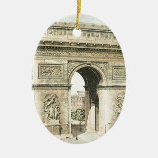 Paris, Arc de Triomphe Ceramic Oval Decoration