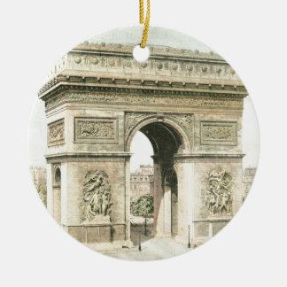 Paris, Arc de Triomphe Christmas Ornament