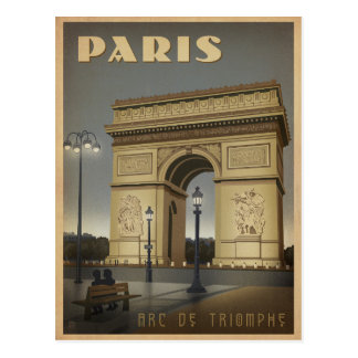 Paris - Arc De Triomphe Postcard