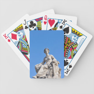 Paris architecture bicycle playing cards