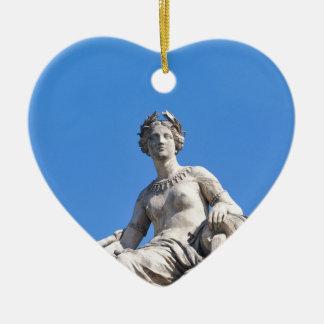 Paris architecture ceramic heart decoration