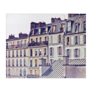 Paris Architecture | Roof Top Building Acrylic Print