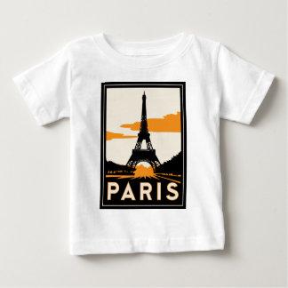 paris art deco retro travel poster tshirts