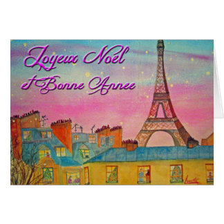 Paris at Christmas time - French ! Greeting Card