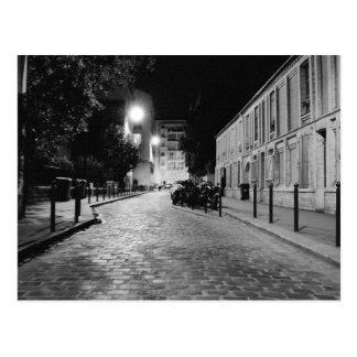 Paris at night postcards