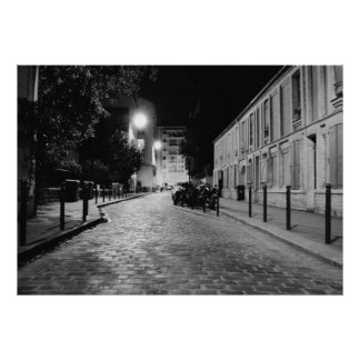 Paris at night poster