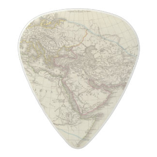 Paris atlas map acetal guitar pick