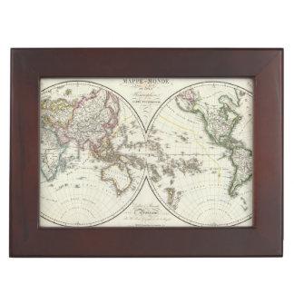 Paris Atlas Map Keepsake Box