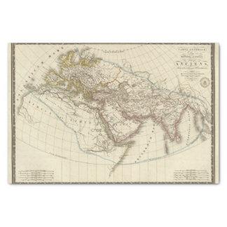 Paris atlas map tissue paper