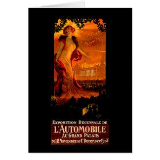 Paris Auto Show 1907 ~ Vintage Automobile Ad Card
