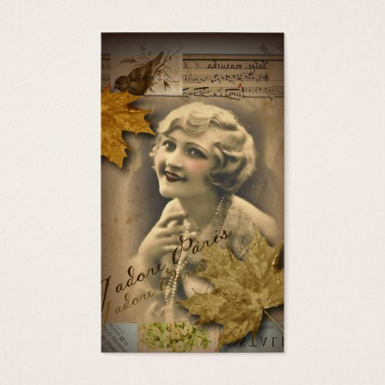 Paris autumn leaves vintage 1920 great gatsby Girl