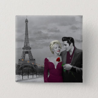 Paris B&W 2 15 Cm Square Badge