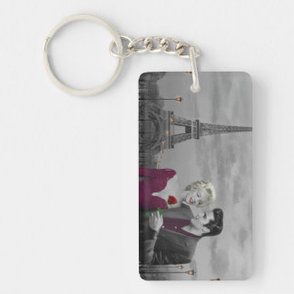 Paris B&W Key Ring