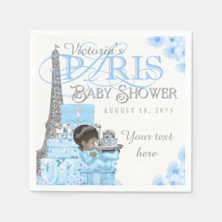 Paris Baby Shower Napkins Ethnic Boy Baby Shower Paper Serviettes