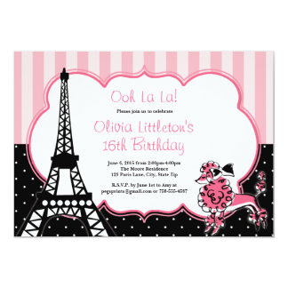 Paris Birthday Invitations Sweet 16