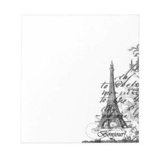 Paris Bonjour Collage Notepad