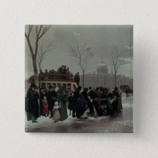 Paris Bus Accident 15 Cm Square Badge