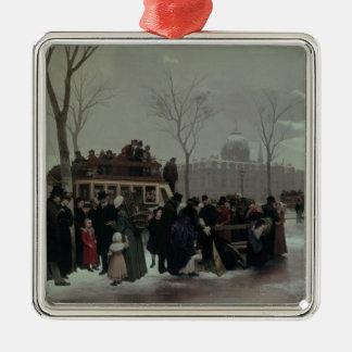 Paris Bus Accident Christmas Ornament